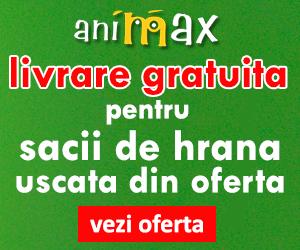 Campanie de reduceri Livrare gratuita pentru sacii de hrana pentru caini si pisici