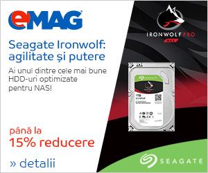 Campanie de reduceri HDD-uri interne Seagate Ironwolf, 06- 12.12.2018