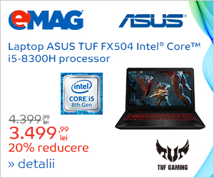 Campanie de reduceri Laptop ASUS TUF cu i5, 12- 24.12.2018