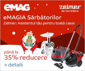 Campanie de reduceri eMAGIA - Pana la 30% reducere la electrocasnicele mici Zelmer