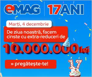 Campanie de reduceri eMAG sarbatoreste 17 ani cu extra reduceri de 10.000.000 lei
