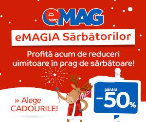Campanie de reduceri eMAGIA Sarbatorilor de iarna 2018