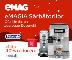 Campanie de reduceri Espressoare DeLonghi