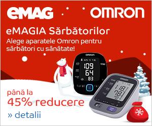 Campanie de reduceri Pana la 45% reducere la gama de tensiometre OMRON