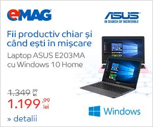 Campanie de reduceri Laptopuri ASUS E203MA cu Windows 10, 06- 12.12.2018