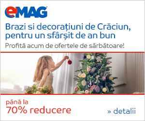Campanie de reduceri Pana la 70% reducere la decoratiuni de Craciun