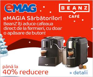 Campanie de reduceri eMAGIA - Pana la 40% reducere la espressoarele BeanZ Cafe