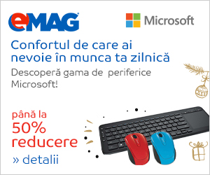 Campanie de reduceri Periferice Microsoft- pana la 50% reducere, 21- 27.12.2018