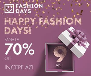 Campanie de reduceri Happy Fashion Days - incepe astazi!