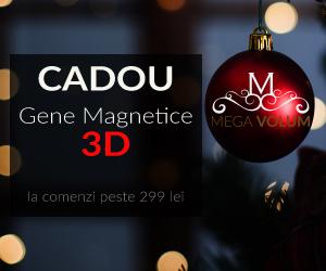 Campanie de reduceri Gene magnetice 3D CADOU la achizitie de peste 299 lei