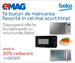 Campanie de reduceri Pana la 30% reducere la cuptoarele cu micounde Beko