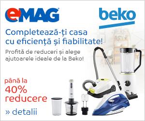 Campanie de reduceri Pana la 40% reducere la electrocasnice mici Beko
