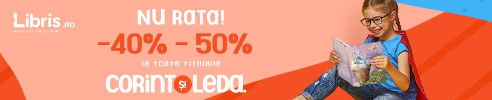 Campanie de reduceri Nu rata! -40% - 50% la TOATE titlurile Corint si Leda