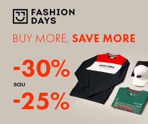 Campanie de reduceri Buy More, Save More - 30% sau 25% reducere la articolele pentru barbati