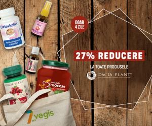 Campanie de reduceri 27% REDUCERE la toate produsele Dacia Plant!