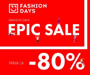 Campanie de reduceri Epic Sale - reduceri de pana la 80%