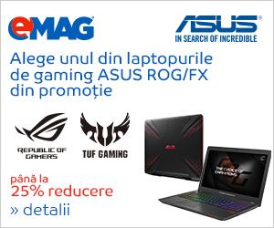 Campanie de reduceri Laptopuri ASUS ROG, 11- 25.02.2019