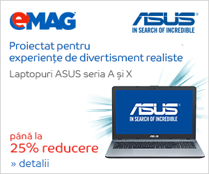 Campanie de reduceri Laptopuri ASUS nonROG seria A si X, 25.02- 08.03.2019