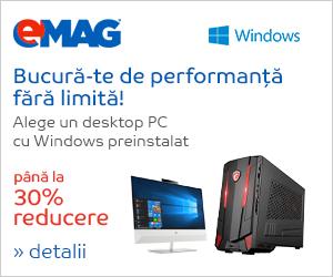 Campanie de reduceri Desktop PC-uri cu Windows preinstalat, 18- 24.02.2019