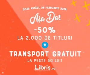 Campanie de reduceri -50% la 2.000 de titluri + Transport GRATUIT la peste 50 lei!