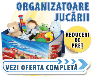 Campanie de reduceri Organizatoare pentru jucarii cu personaje Disney