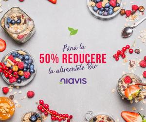 Campanie de reduceri Pana la 50% REDUCERE la alimentele Bio Niavis