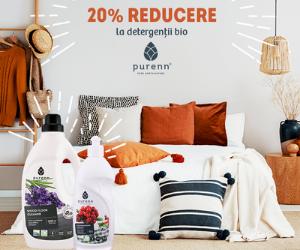 Campanie de reduceri 20% REDUCERE la detergentii Bio Purenn