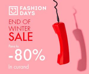 Campanie de reduceri End Of Winter Sale - pana la 80% reducere (teasing)