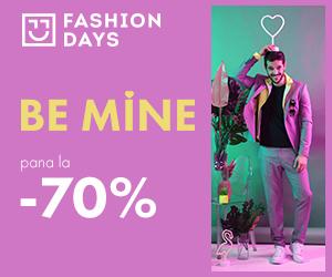 Campanie de reduceri Be Mine - reduceri de pana la 70% la articolele pentru barbati