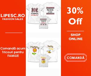Campanie de reduceri -30% Reducere pentru Tricouri de familie