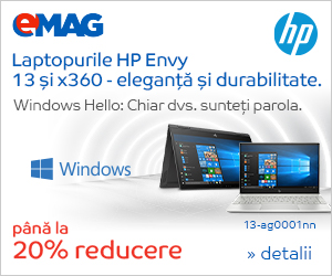 Campanie de reduceri Laptopuri HP Envy 13 si x360 cu Windows, 01- 08.03.2019