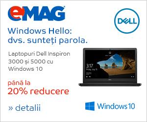 Campanie de reduceri Laptopuri Dell Inspiron 3000 si 5000 cu Windows 10, 11- 22.03.2019