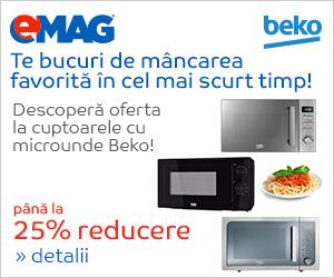 Campanie de reduceri Pana la 25% reducere la cuptoarele cu micounde Beko