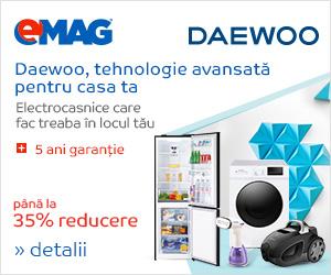 Campanie de reduceri Electrocasnice mari si mici Daewoo - pana la 35% reducere