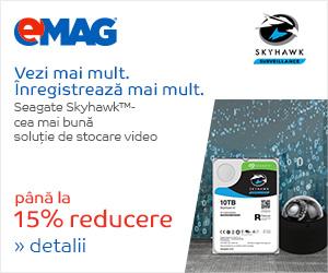 Campanie de reduceri HDD-uri interne Seagate Skyhawk, 18- 29.04.2019