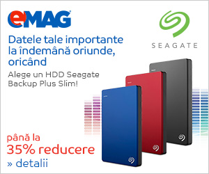 Campanie de reduceri HDD-uri Seagate Backup Plus Slim Portable, 08- 18.03.2019