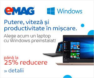 Campanie de reduceri Laptopuri cu Windows preinstalat, 11- 18.03.2019