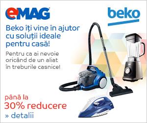 Campanie de reduceri Pana la 30% reducere la electrocasnciele mici Beko