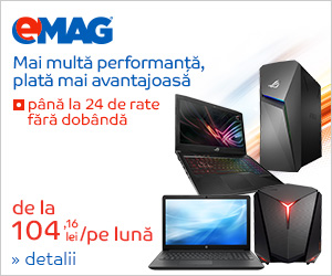 Campanie de reduceri Campanie rate fara dobanda pentru laptopuri si  desktop PC-uri, 22- 31.03.2019