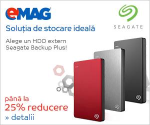 Campanie de reduceri HDD-uri externe Seagate Backup Plus, 22-26.03.2019