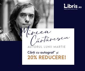 Campanie de reduceri Mircea Cartarescu, autorul lunii martie. Carti cu autograf si 20% Reducere!