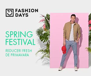 Campanie de reduceri Spring Festival - reduceri fresh de primavara la articolele pentru barbati