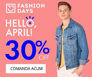Campanie de reduceri Hello, April! - 30% reducere la articolele pentru barbati