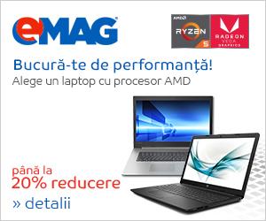 Campanie de reduceri Laptopuri cu procesor AMD, 08- 22.04.2019