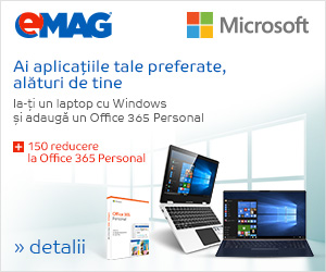 Campanie de reduceri Bundle Office 365 + laptop- 150 de lei la office, 15- 21.04.2019
