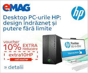 Campanie de reduceri Voucher desktop PC-uri HP 10% extra reducere, 25.04- 08.05.2019