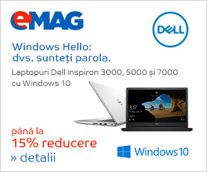 Campanie de reduceri Laptopuri Dell Inspiron 3000, 5000 si 7000 cu Windows, 08- 19.04.2019