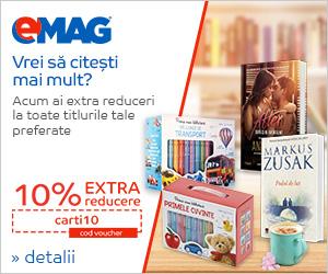 Campanie de reduceri Voucher 10% extra reducere books, 09- 11.04.2019