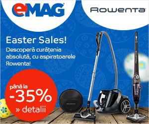 Campanie de reduceri Easter Sales - Pana la 35% reducere la aspiratoarele Rowenta