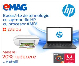 Campanie de reduceri Laptopuri HP cu procesor AMD si imprimanta cadou, 23- 30.04.2019